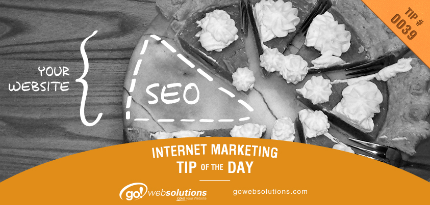 You wouldn't buy a pie with a piece of it missing; neither would you want to create a website without SEO