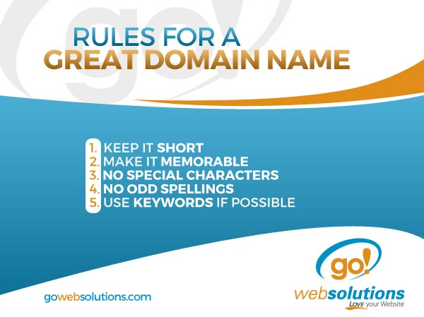 Rules for a Great Domain Name